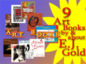 Collage of E.J. Gold Art Instruction Books
