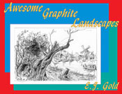 Photo of book cover of Awesome Graphite Landscapes by E.J. Gold