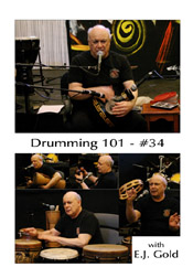 Drumming 101 Class No 34 with E.J. Gold on dvd
