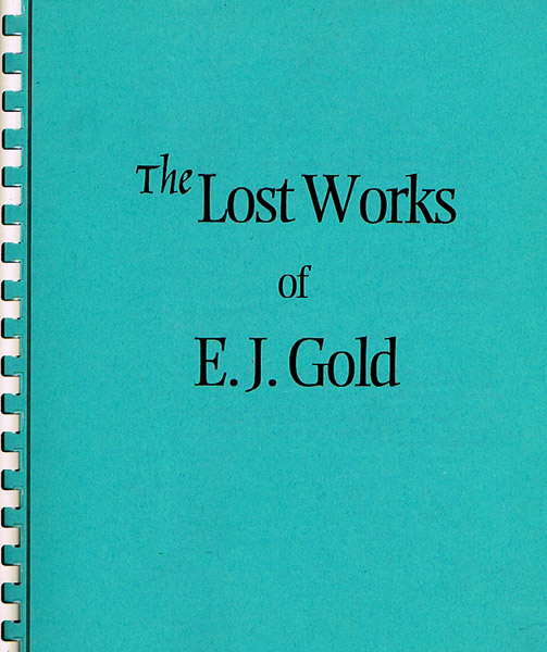 photo of softbound Lost Works of E.J. Gold