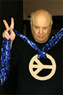 Photo of E.J. Gold demonstrating The Peace Ring
